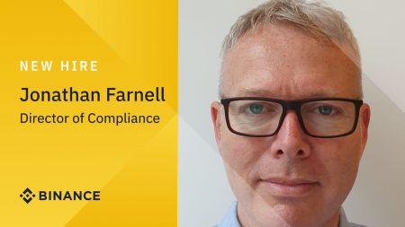 Binance Bolsters European Compliance Team with Hire of Jonathan Farnell