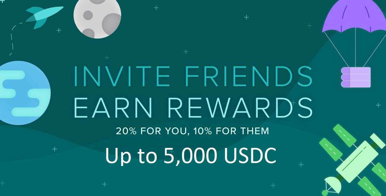 Poloniex Referral Program - Earn 20% Trading fees for You 10% for Them (Total of 5,000 USDC)