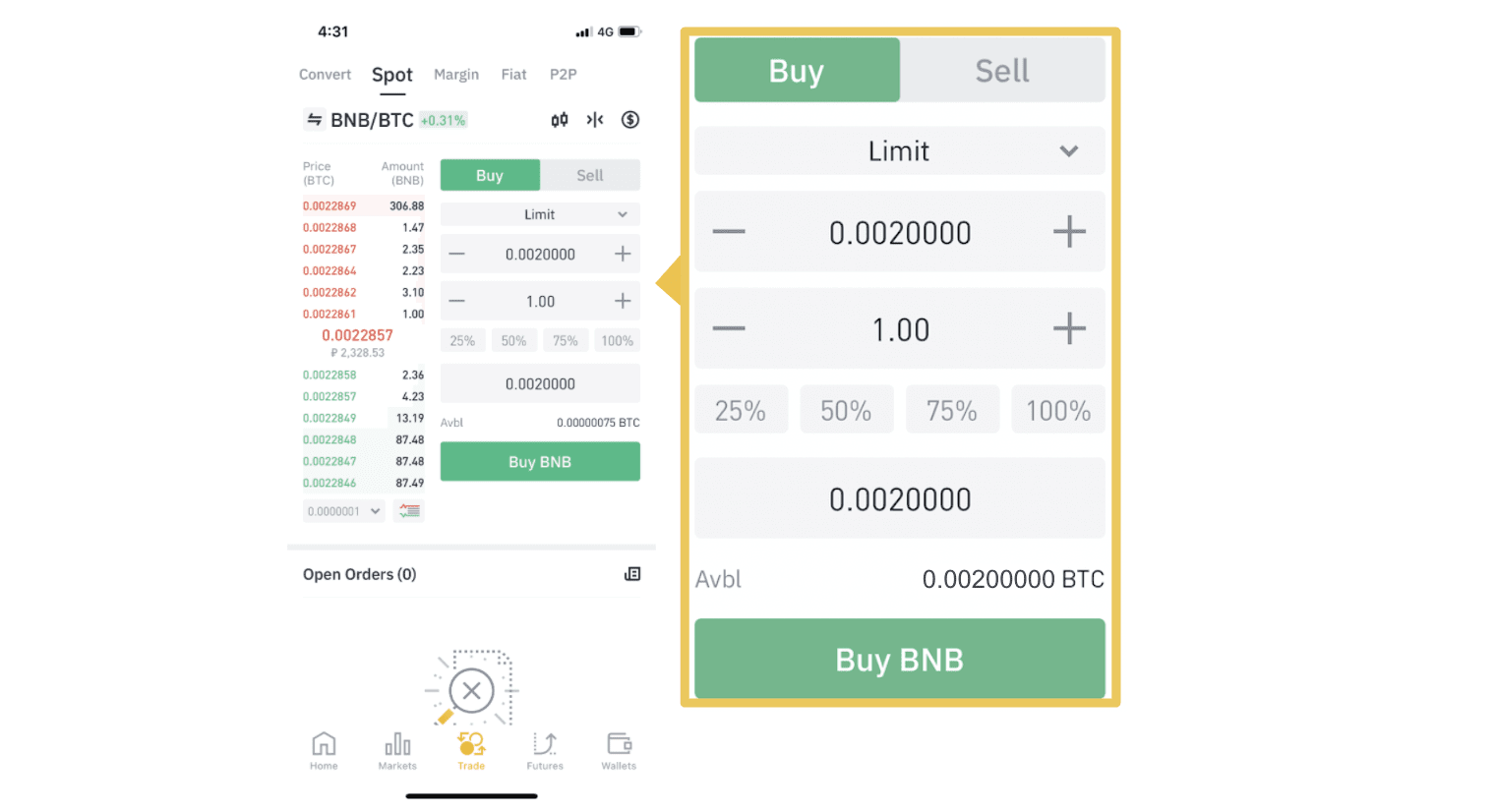 How to Deposit and Trade at Binance